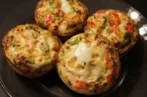 Clean eating egg quiche muffins