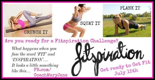A FITspiration Challenge ♥ get FIT…get INSPIRED